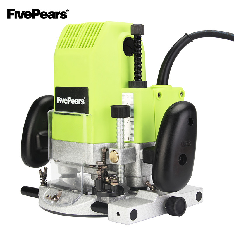 FIVEPEARS 1850 w Elétrica Router 12 8 6mm mm mm Carpintaria Trimmer Trimmer Router Slot Machine Presente 1/2