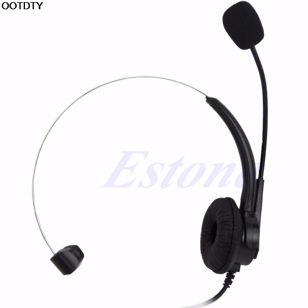 4-Pin RJ11 Corded Telephone Headset Call Center Operator Monaural Headphone- L060 New hot hands free headphones usb plug monaural headset call center computer customer service headset for pc telephone laptop skype chat