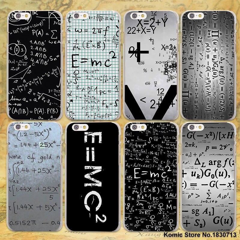 physic equations E=mc2 design transparent clear Case Cover for Apple iPhone SE 5s 7 7Plus 6 6s Plus 5 4s