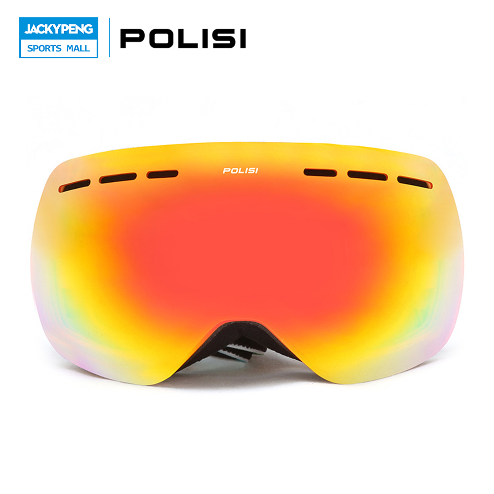 POLISI Children Kids Skiing Glasses Snow  Gafas Ski Snowboarding Goggles Double Layer Anti-Fog Lens Winter Sport Eyewear polisi brand new designed anti fog cycling glasses sports eyewear polarized glasses bicycle goggles bike sunglasses 5 lenses