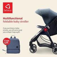 Bebear Детские коляски свет Вес Детские коляски Складная коляска высокое пейзаж Портативный перевозки младенцев для новорожденных
