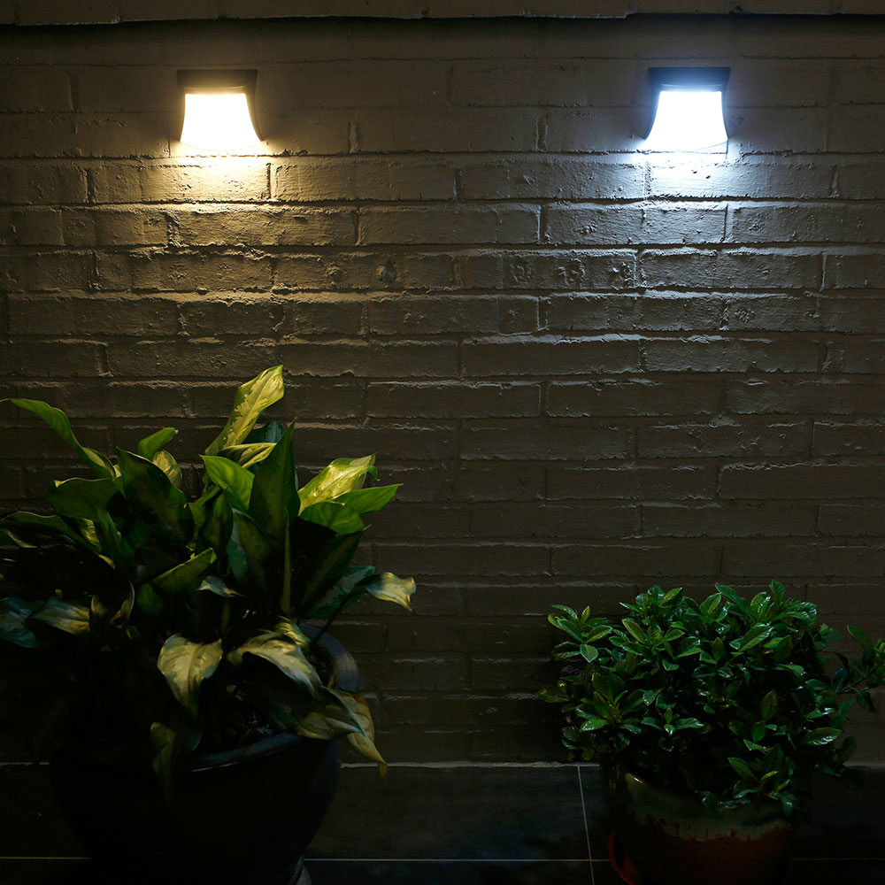 New Typ Solar Light Waterproof Solar Wall Lamp Warm And Cold Optional Light Control Solar Wall Light Polysilicon  Fence Lamp