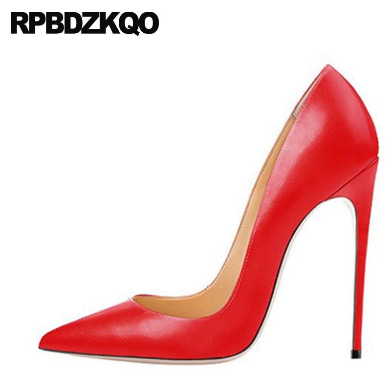 Denim Big Size Glitter 13 45 Pumps Pointed Toe Colourful Scarpin Us Ladies Shoes Ultra Crossdresser High Heels 12 44 12cm 5 Inch