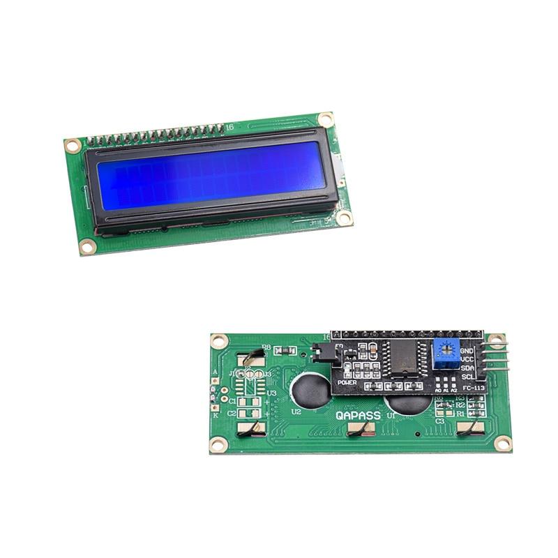 10pcs/lot LCD1602 + I2C LCD 1602 Module Blue Screen IIC/I2C For Ar-duino