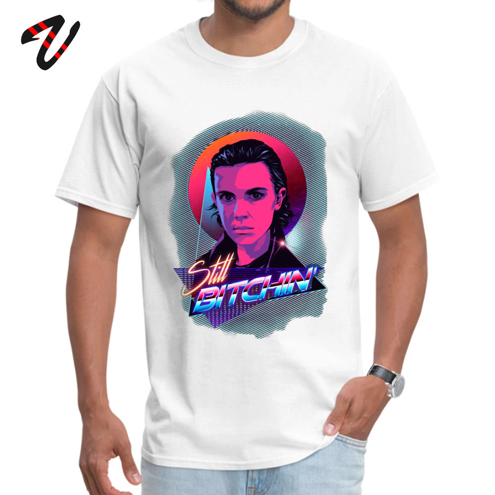 Eleven is Still Bitchin T Shirts The Last Of Us Wife Classic 2019 Mens Autumn Tops Tees Shirt Round Neck Pure Cotton