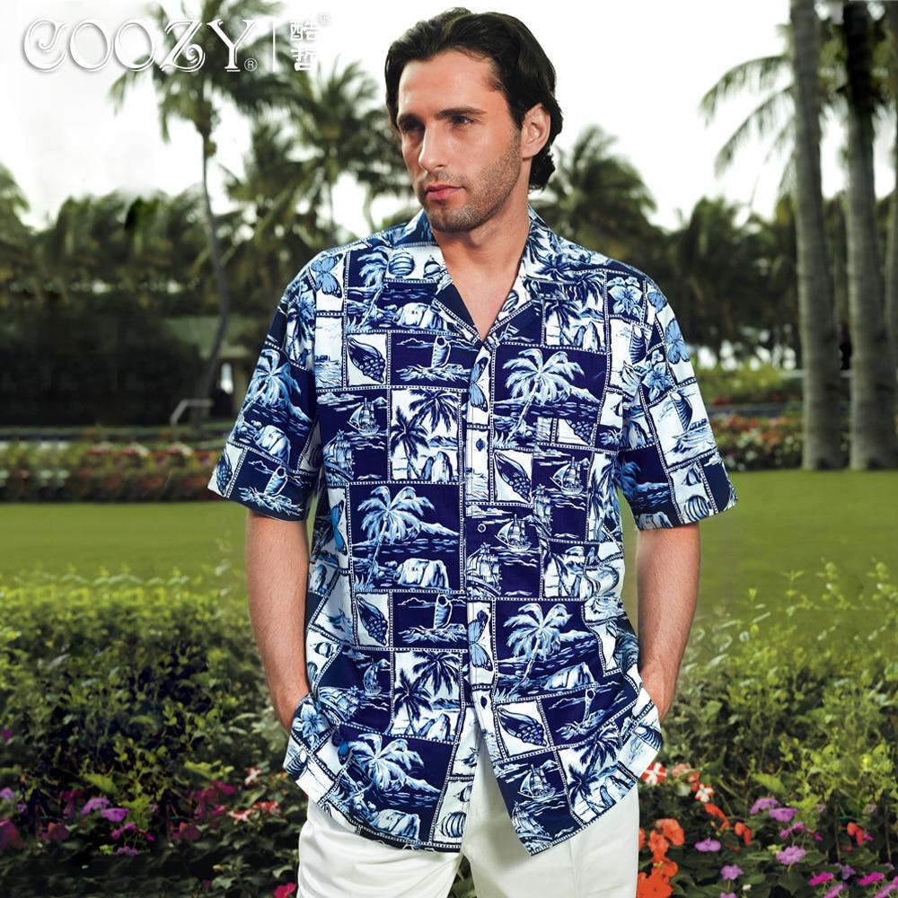 La Vêtements 2013 Manches Hawaii Taille Bleu Été Hommes Courtes Chemise Décontractée 3xl 2xl À Mode Plus xI1Tqf