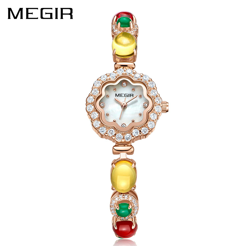 MEGIR Women Bracelet Watches Fashion Luxury Quartz Ladies Watch for Female Love Couple Chain Bracelet Women Relogio Feminino cute love heart hollow out bracelet watch for women