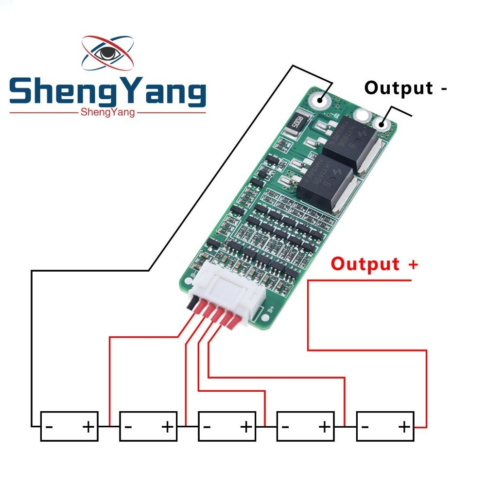 ShengYang 5S 15A Li-Ion литиевый аккумулятор BMS 18650 Защитная плата зарядного устройства 18 в 21 в схема защиты ячеек