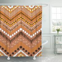 Shower Curtain With Hooks Brown Tribal Ethnic For Aztec Watercolor Cute Navajo Doodle Chevron Zig Zag