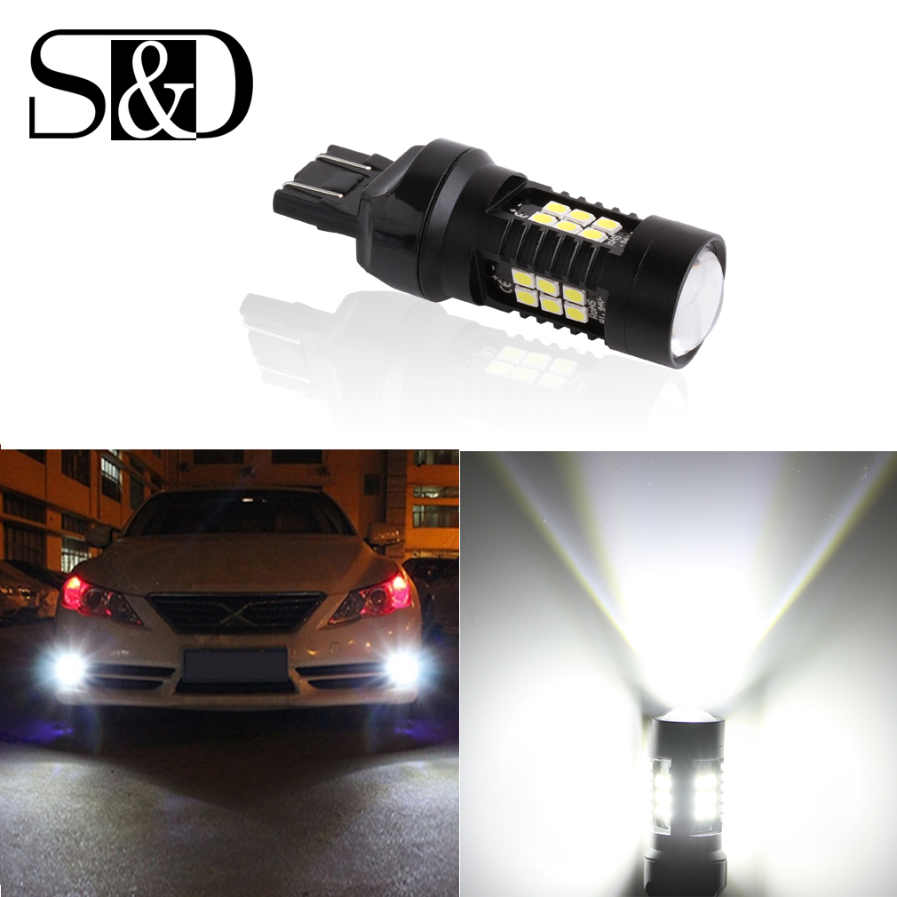 1200Lm T20 7443 LED Bulbs 7440 W21/5W LED Car Lights Turn Signal Brake light Parking light Auto Fog Lamps Red Amber