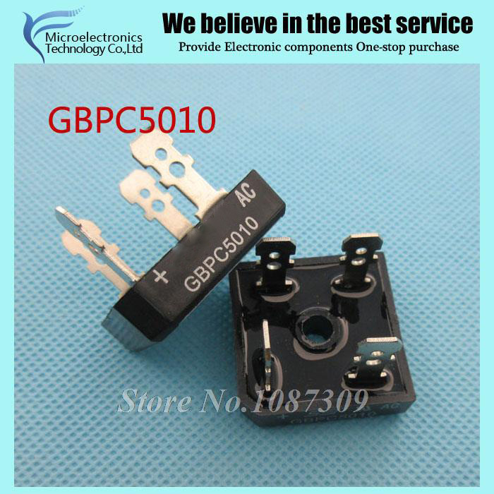2pcs GBPC5010 Bridge Rectifiers 1000V 50A Bridge Rectifier Built-in Heat Sink c5010 IGBT Module