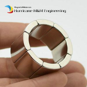 Image 5 - NdFeB Magnet Arc OR18xIR14x45degxT20 mm N42H Motor Magnet for Generators Wind Turbine Neodymium Permanent Rotor Segment 8 240pcs