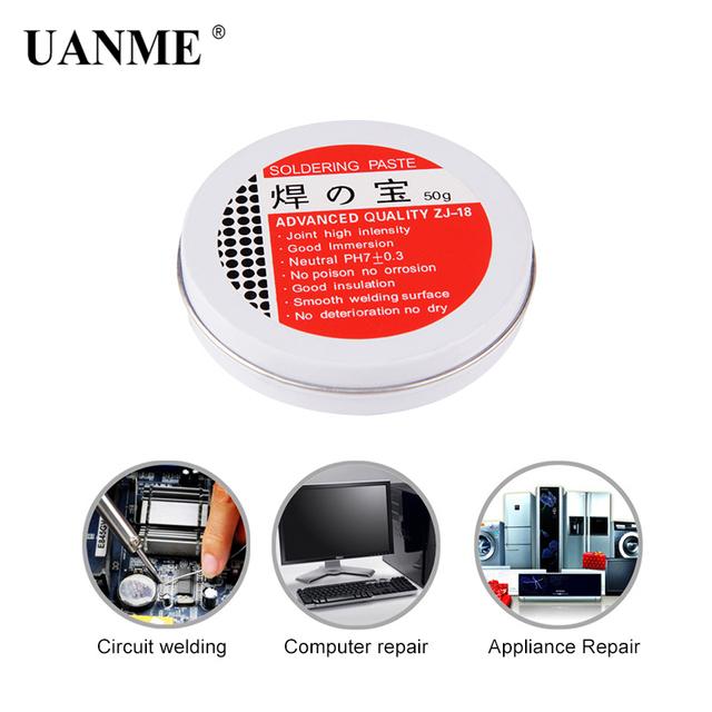 UANME Soldering Paste Mild Rosin Environmental Soldering Paste Flux PCB IC Parts Welding Soldering Gel Tool for Metalworking