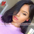 Side Part Wavy Short Bob Wigs Color #1B Heat Resistant Synthetic Lace Front Wigs High Quality Loose Wave Fiber Hair Wigs