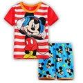 NEWEST Summer Baby Striped cotton Mickey modeling Suits Boys Pajamas Children Pyjamas Girls Cartoon Pijamas Kids Clothing set