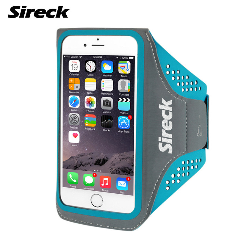 Sireck Running Bag Waterproof Sport Arm Bag 5.0'' 5.8'' Phone Case Fitness Gym Bag Jogging Arms Belt Pouch Running Accessories 11