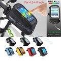 "4.8 ""bicicleta de la bici sostenedor del teléfono bolsa impermeable del bolso de montaje para iphone 7/6/6 s/sony z3/z5 compacto/z1/m2/sp/lumia 1020/950/925/630"