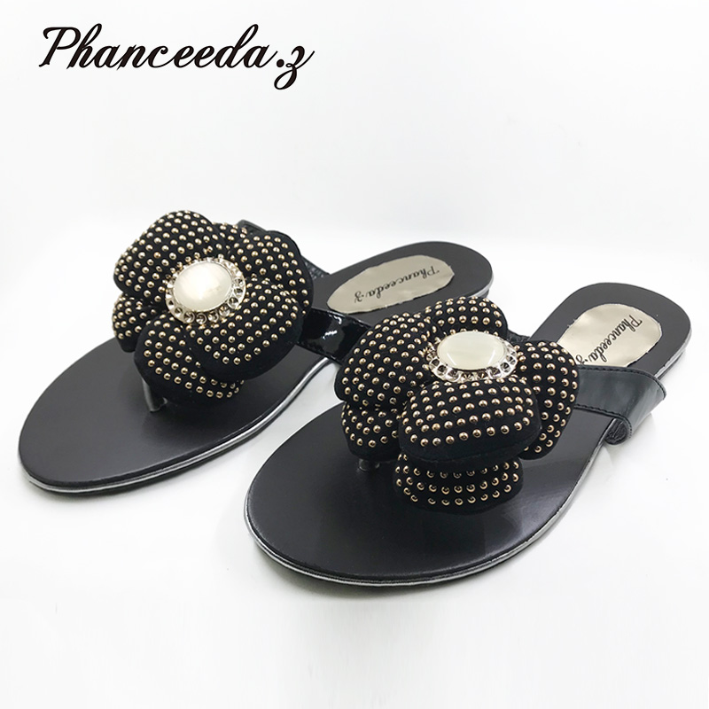 New 2018 Casual Shoes Women Sandals Summer Style Fashion Flip Flops Good Quality Flats Solid Sandal Slippers Size 4-9 new women sandals low heel wedges summer casual single shoes woman sandal fashion soft sandals free shipping