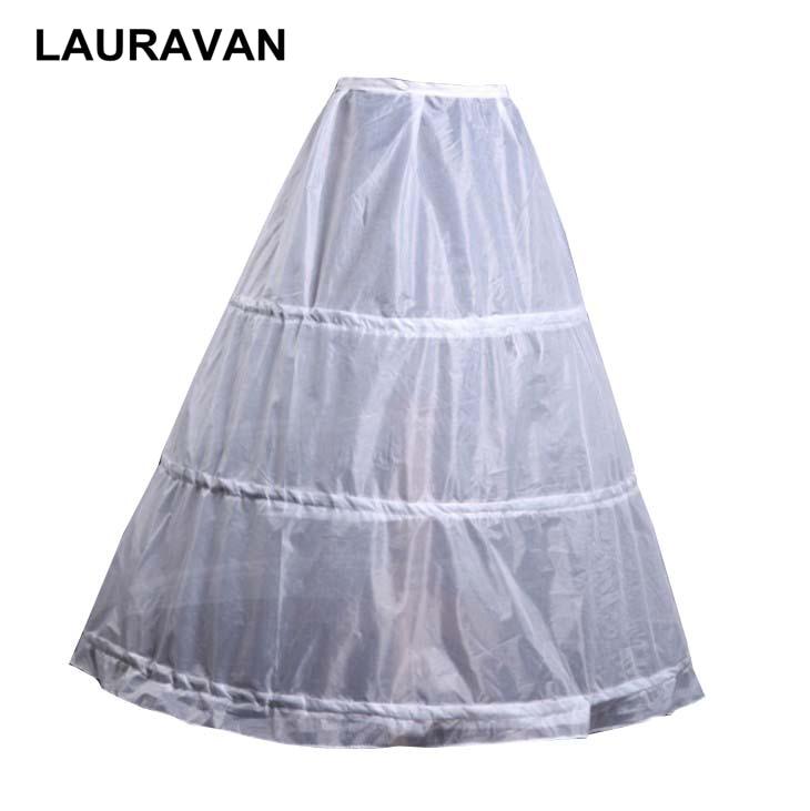 Adaptable 3 Hoops Avond Prom Pary Baljurk Onderrok Bruiloft Accessoires Drie Hoops Voor Een Lijn Trouwjurk Petticoat Crinoline Gematigde Kosten