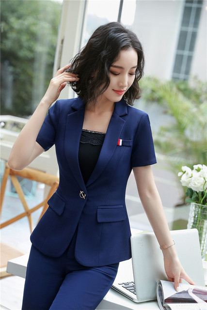 Elegant Navy Blue Formal Uniforms 2 Piece With Jackets And Pants For