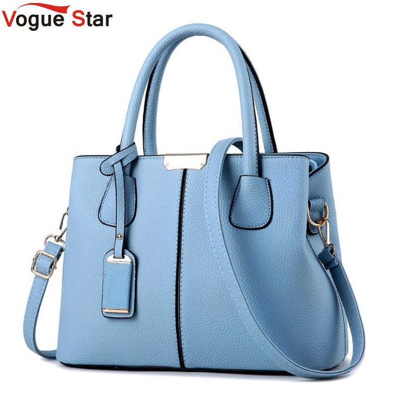 Vogue Star PU Leather Top-handle Women Handbag Solid Ladies Lether Shoulder Bag Casual Large Capacity Tote Crossbody Bags LB24