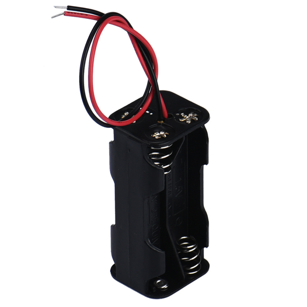 newHigh Recommend Hot 2-slot 4 x AAA Battery Back To Back Holder Case Box Storage With Wire Leadsdrop shopping hot new yokogawa s9129fa s9129 9129 2 4v 1100mah battery back up dcs