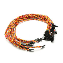 Hot Sale 10pcs 15/30/45/60 cm 22AWG 60core Futaba JR Anti-interference Servo Extension Cable For RC Helicopter Part