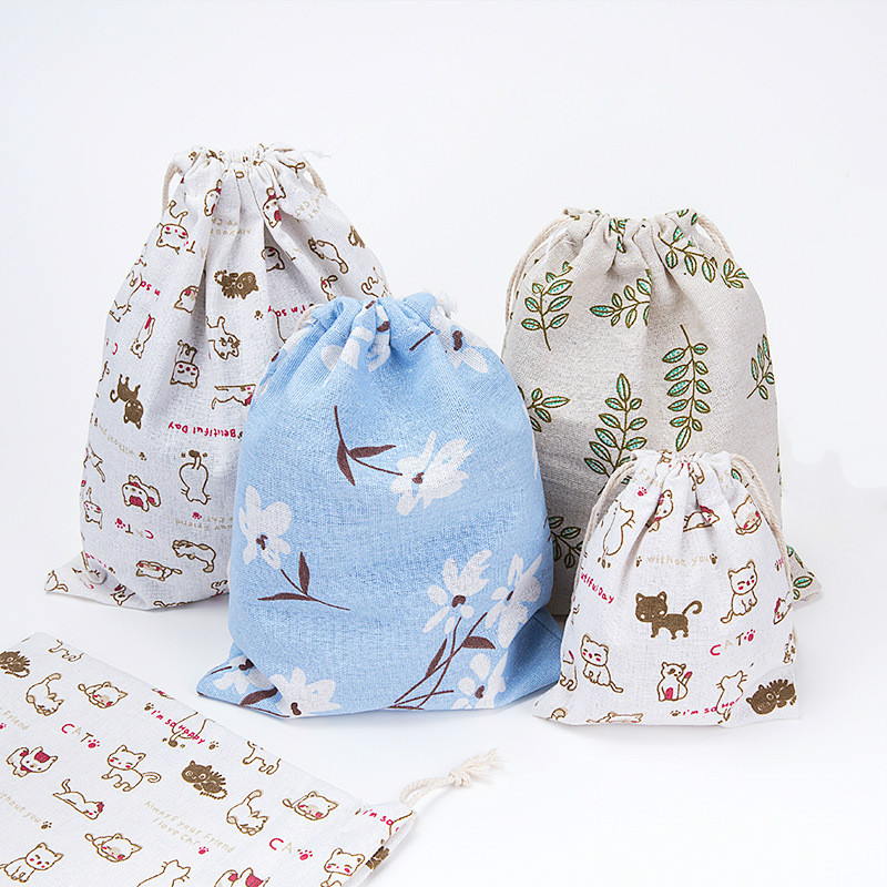 Etya Мода Печать Drawstring Сумки милые студент сумка мешок Обувь хранения одежды сумки Косметика стирка Сумки для Для женщин