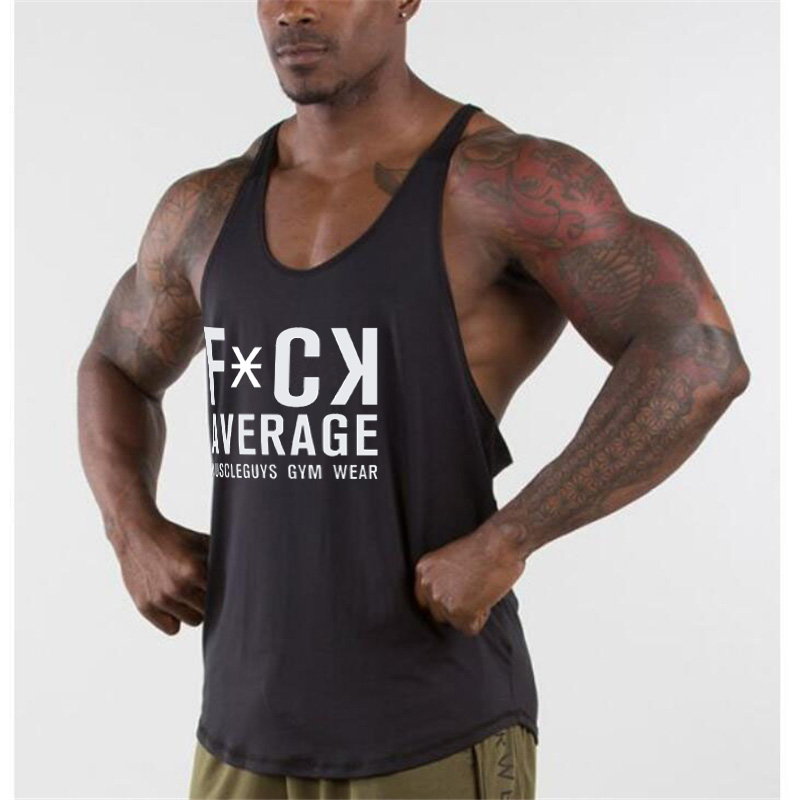 Muscleguys Brand Gyms Stringer   Tank     Top   Mens Bodybuilding Sleeveless Shirt Fitness Clothing Workout Singlet Cotton Muscle Vest