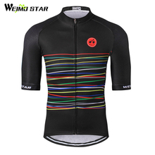 цена на Cycling Jersey 2017 Weimostar Men Bike Jersey Tops Ropa Ciclismo mtb Bicycle Cycling Clothing Maillot Summer Cycling Wear CD-33