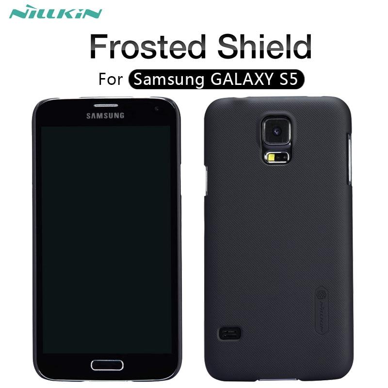 Caso para samsung galaxy S5 estuche Protector Super esmerilado Nillkin de duro caso de la cubierta para samsung galaxy S5 G900F Protector de pantalla de regalo