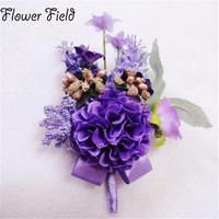Yeni 4 Adet/grup damat gelin nedime korsaj düğün çiçekleri yapay çiçekler takım Yaka aksesuarları broş dekorasyon