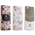 Capa para iphone 5s se caixas de luxo designer de moda silicone capa para iphone 5 coque moda floral bonito tpu para iphone 5s