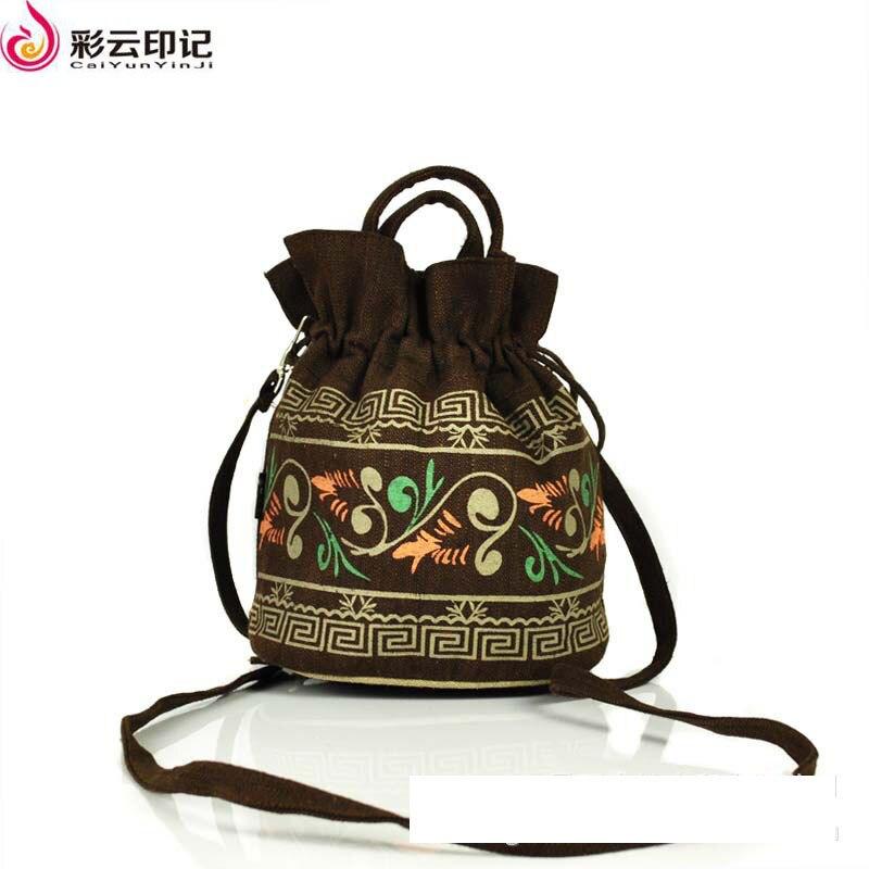 Caiyunyinji Brand Chinese National Characteristics Shoulder Handbags font b Women b font Small Phone Bag