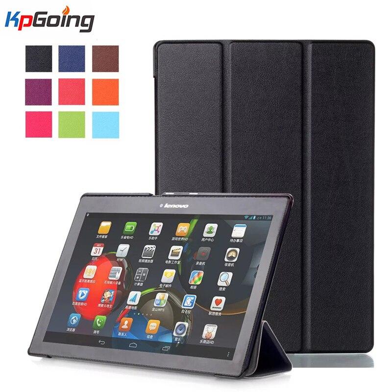 Fashion PU Leather Cover Case Funda for Lenovo Tab 2 A10-70 10.1 Tablet for Tab 2 A10-30 X30F PU Leather Case Black Folding