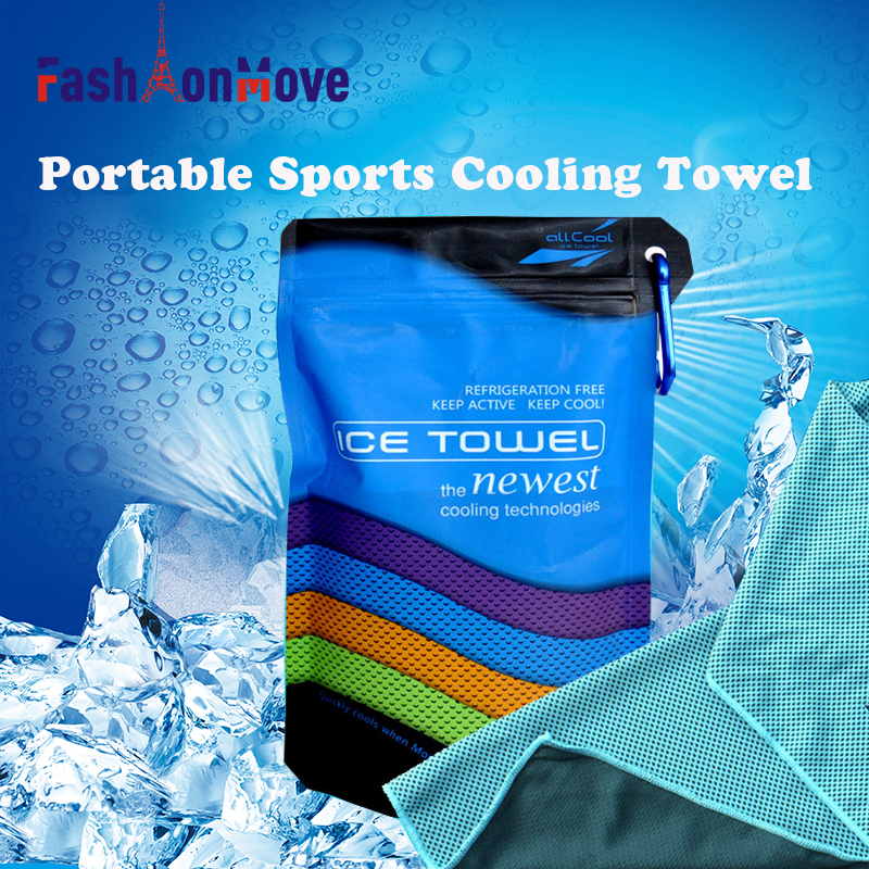 FashionMove Sport Ice Towel Enduring Instant Cooling Face Towel Heat Relief Reusable Chill Cool Towel