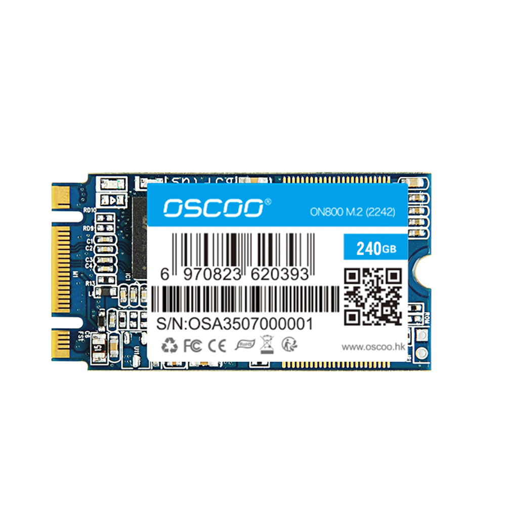 OSCOO NGFF SSD Hard Drive 60GB 120GB 240GB Internal Solid State Drive Mini SSD Disk lightweight PC Storage for Laptop Computers