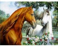 3D Diamond Painting Full Square Drill Embroidery Cross Animals Horse Aromatic Cross Stitch Rhinestone Decorative Pattern