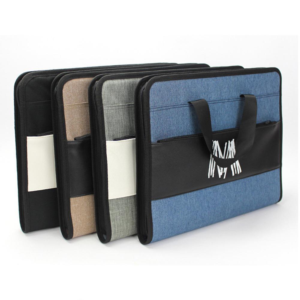 None Document File Bag A4 Expanding Organizer File Folder Waterproof 13 Pouch Multilayer Storage Bag Organ Bag D29