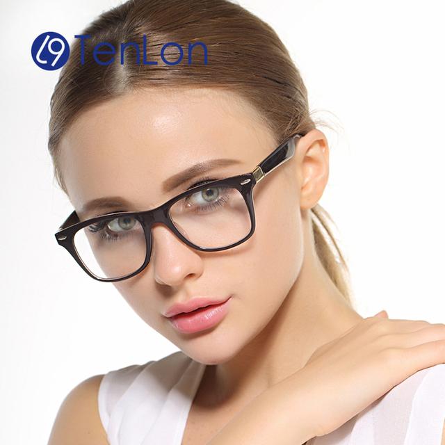 TenLon женщины классические ретро очки кадр óculos де грау очки кадр женщины TR90 материал прозрачные линзы очки партии очки