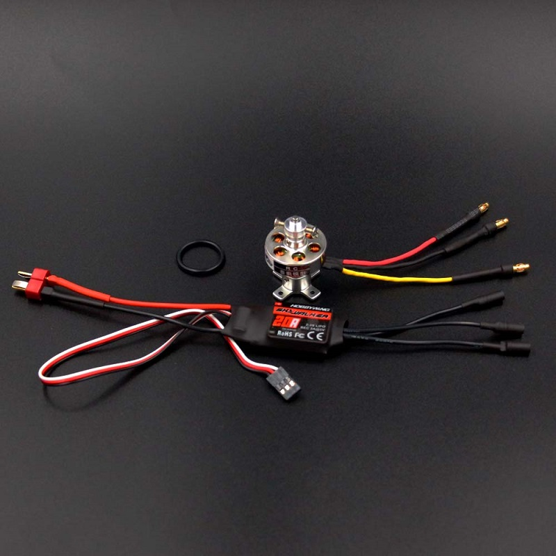 1PCS 2370 Brushless Motor 1300KV 1700KV Aircraft Motors with 20A Hobbywing ESC for RC Helicopter Quadcopter Spare Parts 4pcs lot original hotrc 30a brushless motor esc speed controller with jst plug for rc quadcopter rc helicopter multicopter