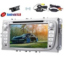 GPS del coche reproductor de DVD quad-core Android 6.0 marshmallow sistema estéreo en el tablero 7 pulgadas pantalla táctil headunit para Ford focus Mondeo con