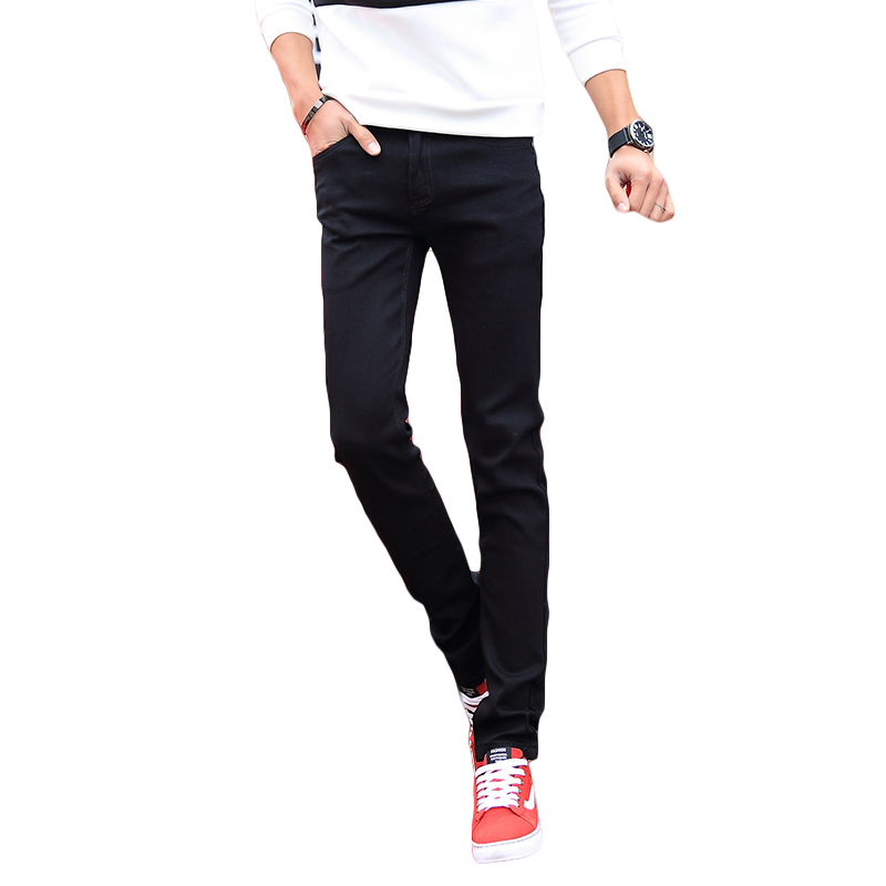 Korean Design Men Jeans Pants Brand Summer Thin Black Denim Pant Male Casual Slim Fit Mens Skinny Jeans Homme Pencil Style Man