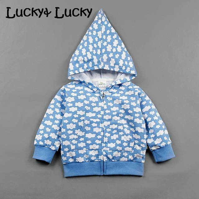 Cotton baby sweatshirt fashion baby hoodie Clouds printed baby boy and girl clothes