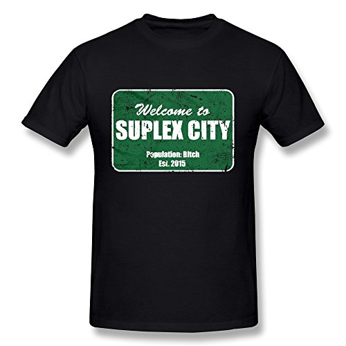 Shop Shirts Short Sleeve Zomer Crew Neck Mens Welcome To Suplex City 2016 Fashion Top Tees T Shirts