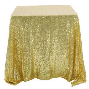 CHAISANG 1pcs Sequin Square Weddings Table Cloth Cover