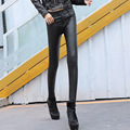 Black Pu Leather Leggings Pants Women Leggings Winter Leather Trousers Women Casual Pencil Pants 2016 Autumn Winter Pants