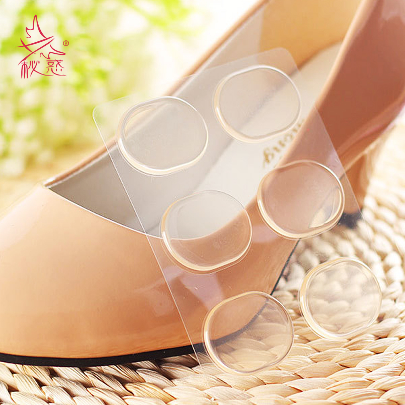 6 pcs/lot High Quality Silicone heel sticker Gel Shoe Insole Inserts Pad Cushion Blister Heel Grips Liner Foot Patch