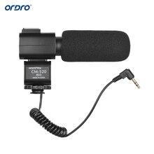 ORDRO HDV CM 520 Microphone Bên Ngoài Siêu Cardioid Electret Condenser Mic w/Giày Hot Núi cho Canon Nikon Sony DSLR DV máy quay phim