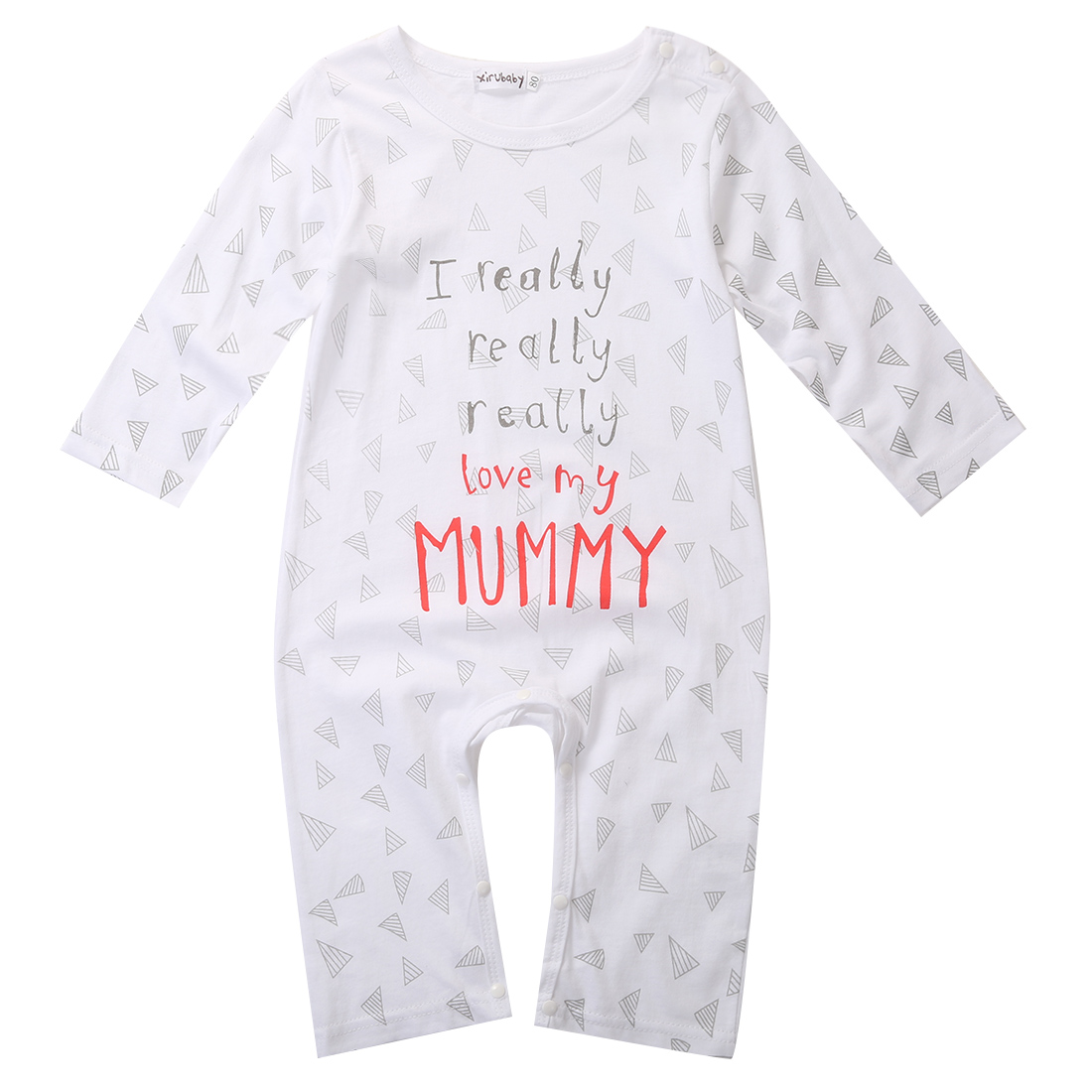 711a0d6f850c6 Hot sale I love Mum Dad Newborn Baby Boy Girl 100cm Cotton Sleepsuit ...